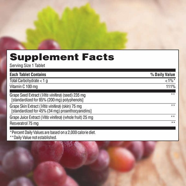 trunature grape seed & resveratrol, 150 timed-release tablets.-3