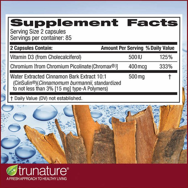trunature advanced strength cinsulin, 170 capsules-2