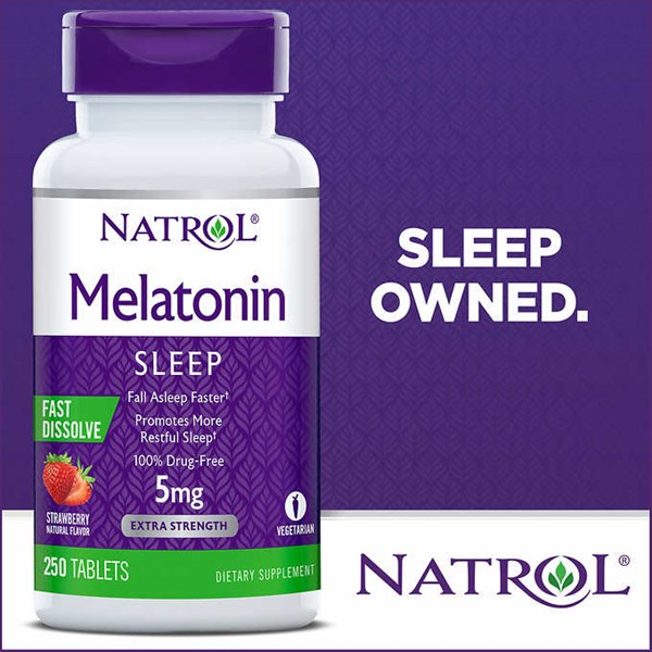 natrol melatonin 5 mg., 250 fast dissolve tablets.-5