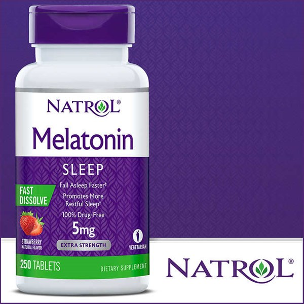 natrol melatonin 5 mg., 250 fast dissolve tablets.-4