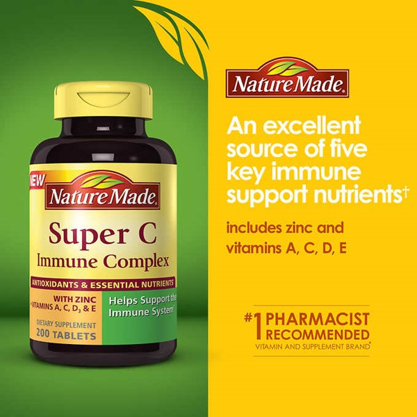 nature made super c immune complex 900 mg., 200 tablets.-2