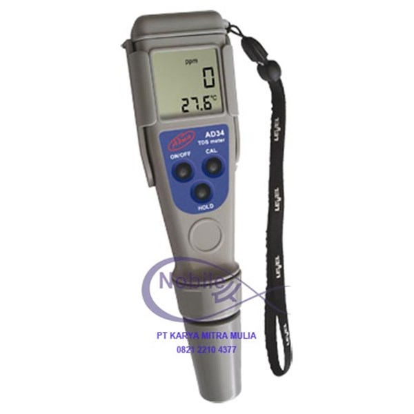 waterproof pocket tds / temperature tester ad34