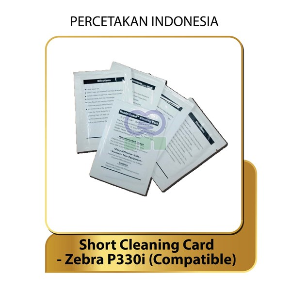 short cleaning card - zebra p330i - compatible product - tool ware consumable printer-1