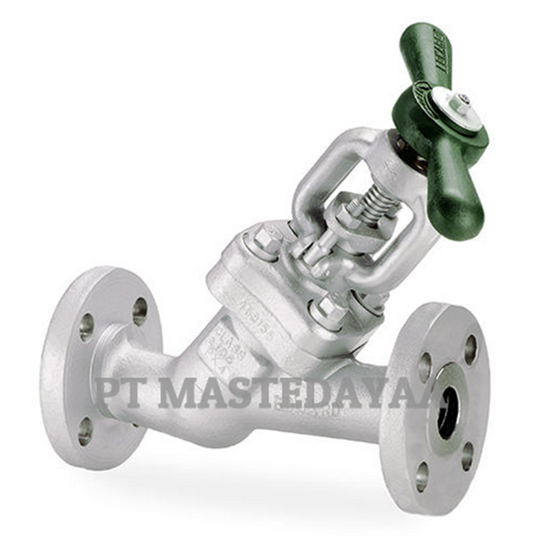 y-pattern globe valves - blow-off