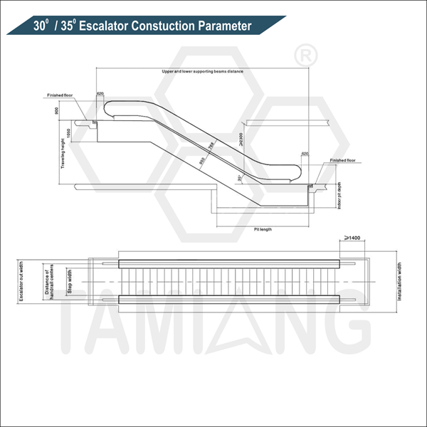 tamiang 300 350 escalator contruction parameter
