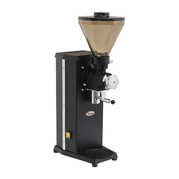 santos 04 shop coffee grinder with bag holder