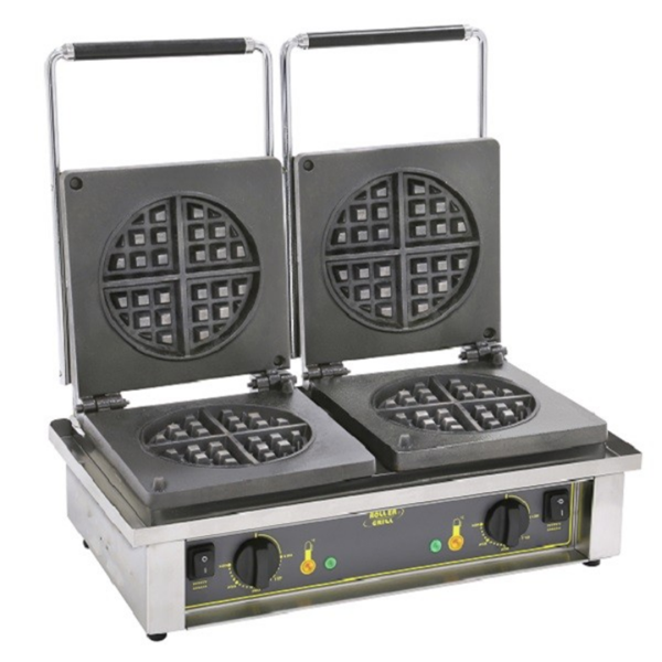 roller grill double waffle iron for round waffle ged 75
