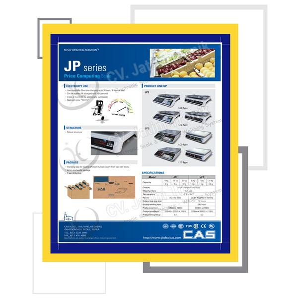 price computing scale cas jp 2-1