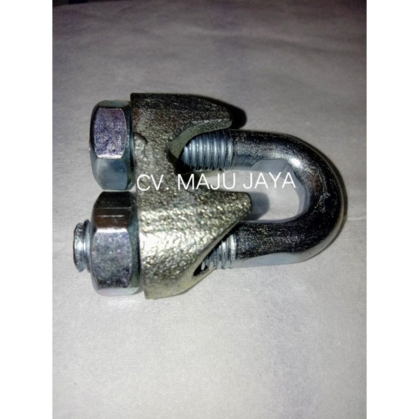 klem sling wire rope clamps kuku macan wire clip galvanis