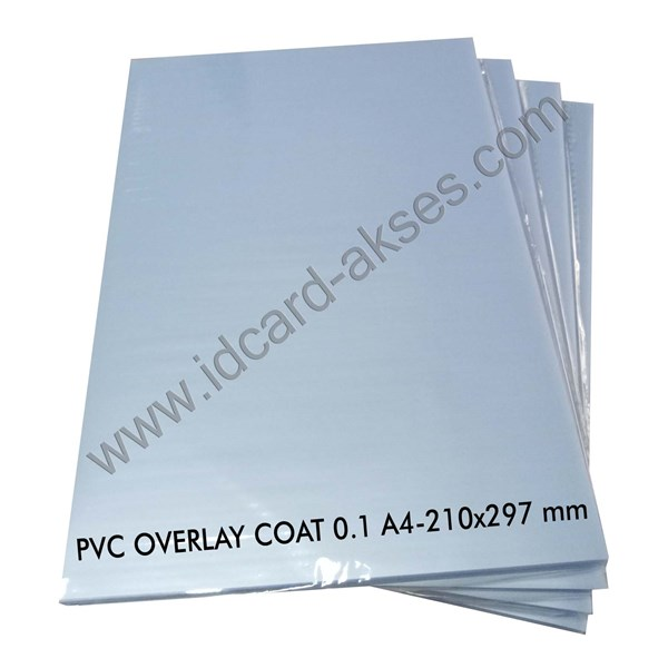 pvc overlay film coatead 0.1 mm a4-21x297 mm 100 sheets /pak