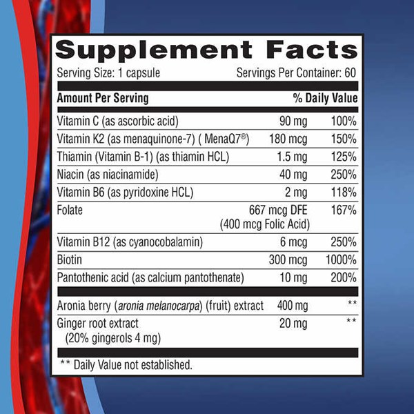 weider artery health with vitamin k2, 60 veggie caps.-2