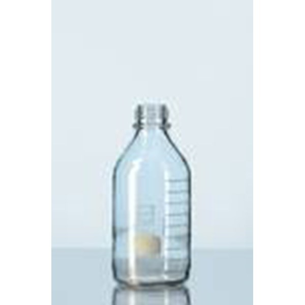 duran® protect laboratory bottle with din thread, gl 45, plastic coated botol laboratorium