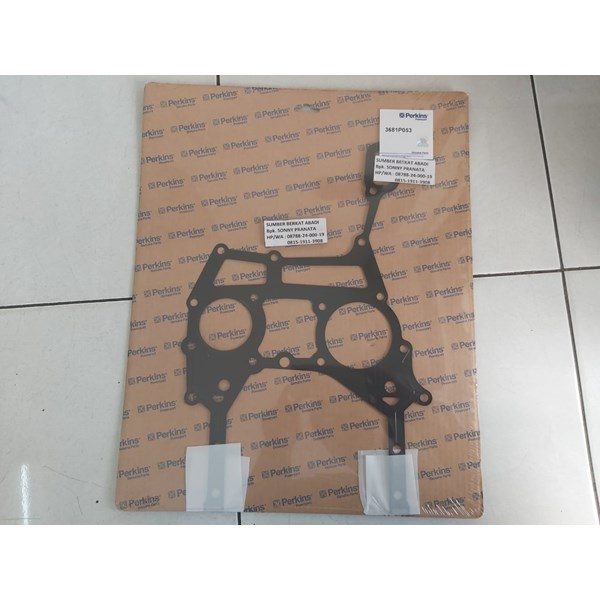perkins 3681p053 timing case cover gasket - genuine made in uk-1